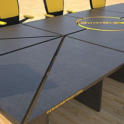 Concrete Conference table mixed design by Designs by Rudy 1