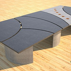 Concrete conference table circles design by Designs by Rudy 5