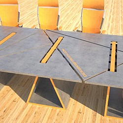 Concrete conference table triangles design by Designs by Rudy2