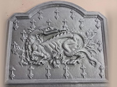 $850 - McCoy Dragon Fireplace Back